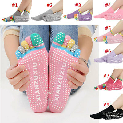 1 Pair 5 Toes Cotton Socks Anti-slip Socks Exercise Sports Pilates Massage Yoga