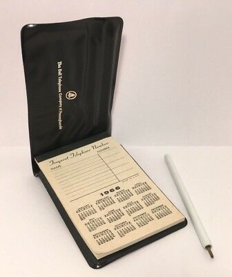 Vintage 1966 Bell Telephone Company of PA Telephone Log-Calender-Notebook