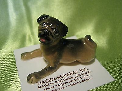 Hagen Renaker Dog Baby Pug Figurine Miniature 3317 Porcelin Ceramic NEW