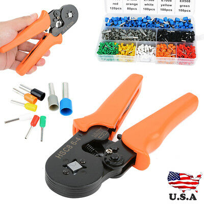 TERMINAL CRIMPING TOOL Bootlace Ferrule Crimper Wire End Cord Pliers ...
