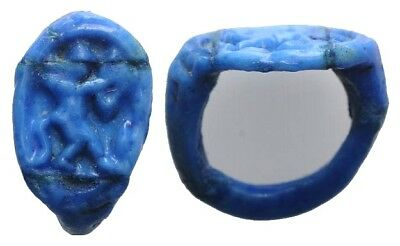 LAC Egyptian faience ring with GOD BES - 20 mm  43