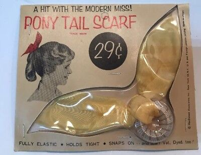 Vintage Pony Tail Scarf Vintage Advertising 1E