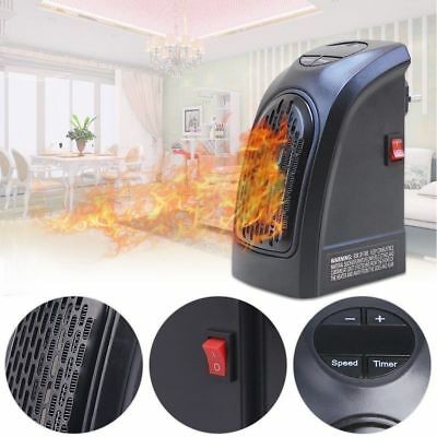 240V 350W 50HZ Portable Wall-Outlet Electric Heater Fan Handy Air Warmer Silent