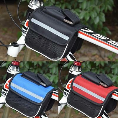 Bike Cycling Front Top Tube Bag Bolsa de marco de bicicleta Double Pouch ENE