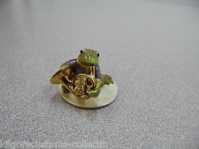 Hagen Renaker French Horn Player Frog 3253 Figurine Miniature FREE SHIPPING NEW
