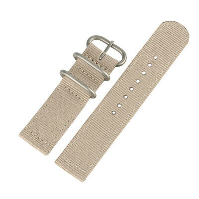 20/22mm Black/Blue Nylon Fabric Canvas Wristwatch Band Strap for Military Men