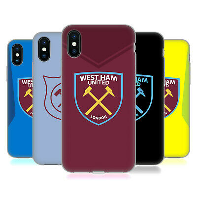 OFFICIAL WEST HAM UNITED FC 2017/18 CREST KIT GEL CASE FOR APPLE iPHONE PHONES