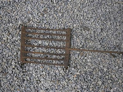 Antique Vintage Wrought Iron Grid Grate Rotisserie Grille For Fireplace