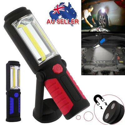 3W Rechargeable COB+LED Hand Torch Lamp Magnetic Inspection Work Light Flexible