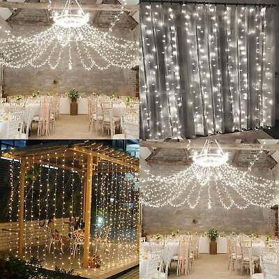 304 LED String Fairy Curtain Lights Waterfall Lamp Christmas Wedding Party