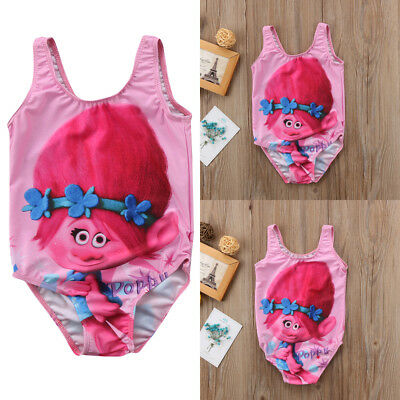 AU Kid Baby Little Girl Poppy Magic Wizard Romper Swimsuit Bikini Beachwear 2-8Y