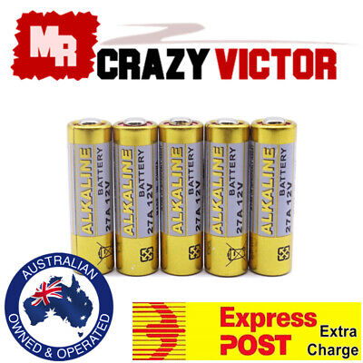 5x 27A 12V MN27 LR27 A27 L828 V27GA Alkaline Battery for Garage Car Remote Alarm
