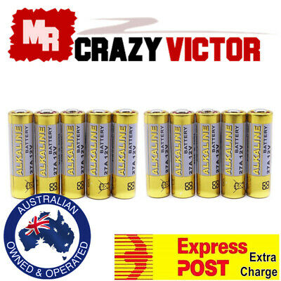 10x 27A 12V MN27 LR27 A27 L828 V27GA Garage Car Remote Alarm Alkaline Battery