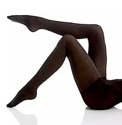 657936cc62884 Hue Ultimate Opaque Control Top Tights Graphite Heather Women Sz 1 3006