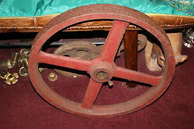 LARGE Antique Cast Iron Industrial Machine Shop Factory Gear Wheel Pulley-Steam