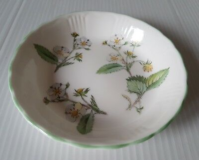 Pretty Queen's China Wild Strawberries Trinket Ring Pin Dish Jam Pickle Dish