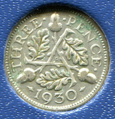 Great Britain - Silver Threepence [3-Pence], George V, 1930