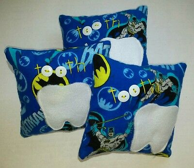 Batman SuperHero Blue Boys Tooth Fairy Pillow