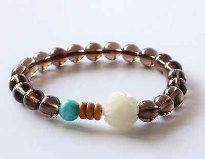 Ladies Natural Stone Crystal Gemstone Chakra Healing Bracelet Wrap for Women UK