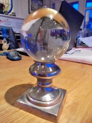 Reproduction Fortune Tellers Crystal Ball On Stand From House Clearance