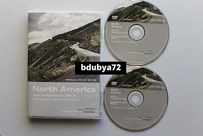 Audi RNS-E North America Navigation DVD 2015-2016 (2xDVD) Maps GPS Road Update