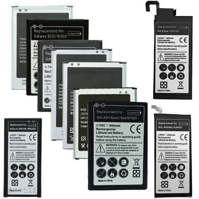 Replacement Battery For Samsung Galaxy S2 S3 S4 S5 S6 S7 Edge Note 3 4 J3 J7 A5