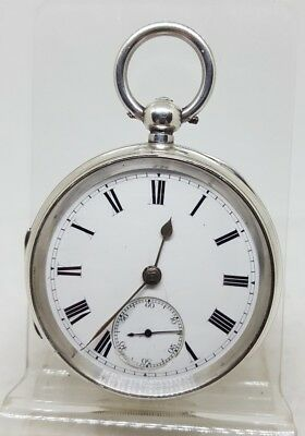 Antique solid silver gents Chester pocket watch 1893 working