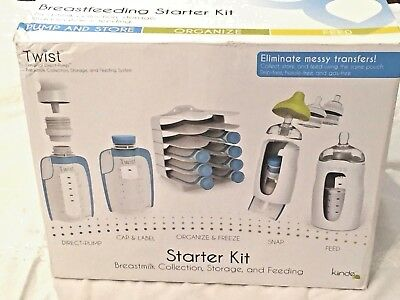 Kiinde Breast Milk Storage Twist Starter Kit Pack *NEW IN BOX*