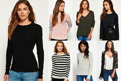 New Womens Superdry Knitwear Selection - Various Styles & Colours 0301