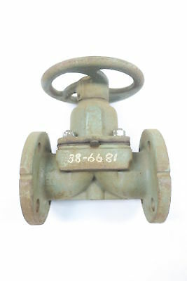 Itt Grinnell Dia-Flo Iron Flanged Diaphragm Valve 1-1/2In D591062