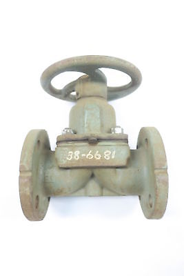 Itt Grinnell Dia-flo Iron Flanged Diaphragm Valve 1-1/2in