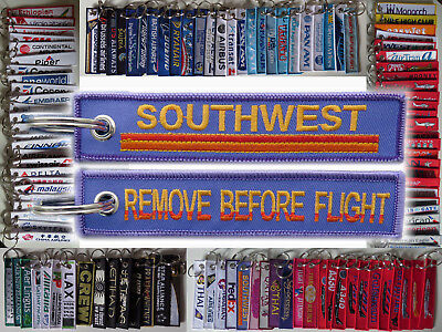 Keyring Southwest Airlines Heart Remove Before Flight baggage tag label keychain