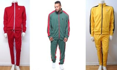 Men SOUTHPOLE Red Green Yellow Track Jacket Pants 2 Piece Set Contrast 18121