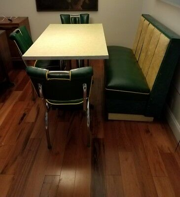 Vintage, Retro, Deco, Mid Century Soda Shop, Diner Booth/Chairs/Table