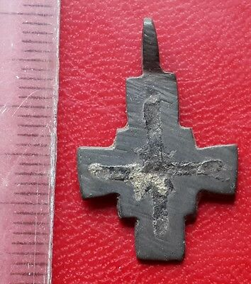 Ancient Viking age bronze cross pendant of 10-12 century AD