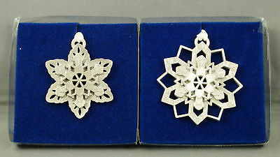 Longaberger SNOWFLAKES Pewter Ornaments NEW in Box