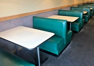 Restaurant Double Booth - 48 inch - Green