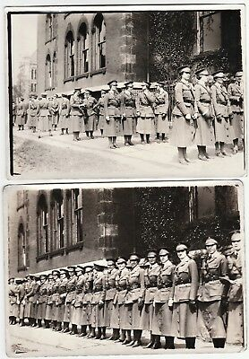 RARE - 2 Orig 5x7 Photos WWI era Women Officer Soldiers ca 1917 Buffalo NY