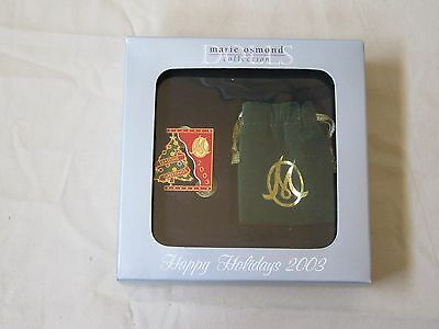 New Marie Osmond Collection Happy Holidays 2003 Pin In Box