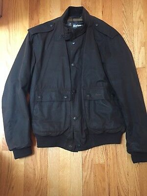 Brown Barbour Flyweight Wax Flyer Jacket, lined size men's L (see pictures)