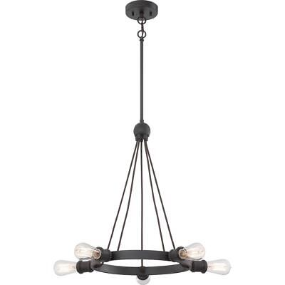 5-Light Candle-Style Chandelier Vintage Bulbs Included Aged Bronze Finish