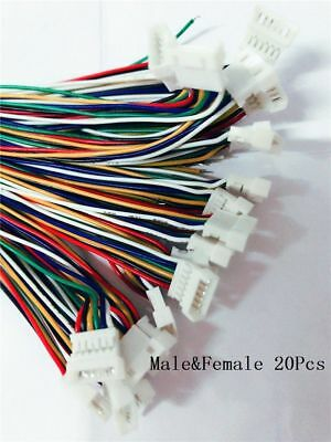 Mini Micro JST 1.25 6-Pin Male&Female Connector plug with Wires Cables 20Pairs