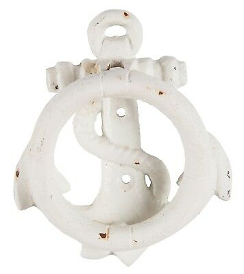Ship Anchor Door Knocker Painted Cast Iron Distressed