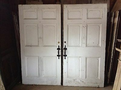Rare Pair Of 18th Century Federal Exterior Doors Antique Door Latches Hardware