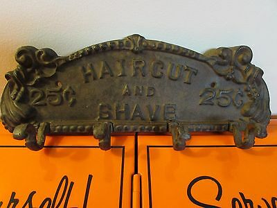 Vintage Cast Iron Haircut and Shave