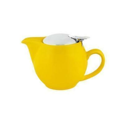 Teapot w Infuser 350mL Maize Yellow Bevande Tealeaves Tea Leaf Coffee Brew Pot