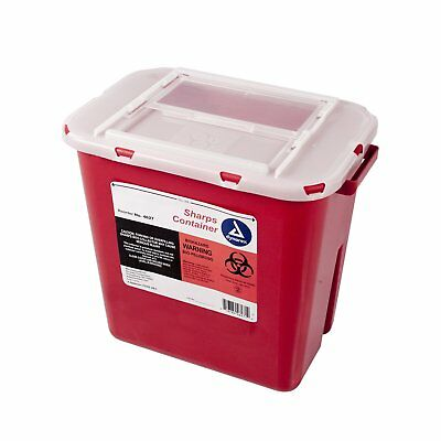 Dynarex Sharps Container - Biohazard Multiple-Use Needle Disposable - Puncture