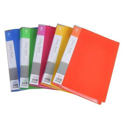 A4 Durable Duralook Style Display Book with 20 Removable Pockets and 4 Part Index Pack of 8