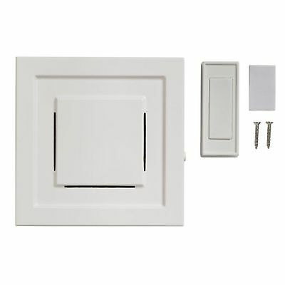 85 dB Wireless Plug-In Door Bell Kit with 1-Push Button White