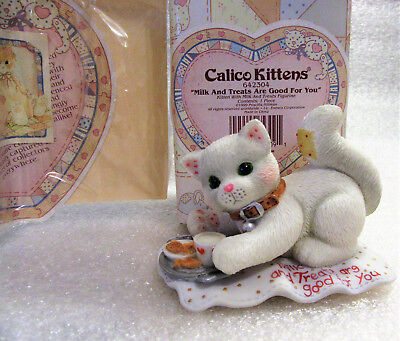 Calico Kittens ~Milk and Treats are Good for You ~ Cat Kitty Figurine